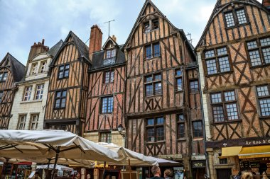 Medieval buildings in Tours, France