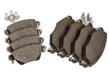 Brake pad set with screws