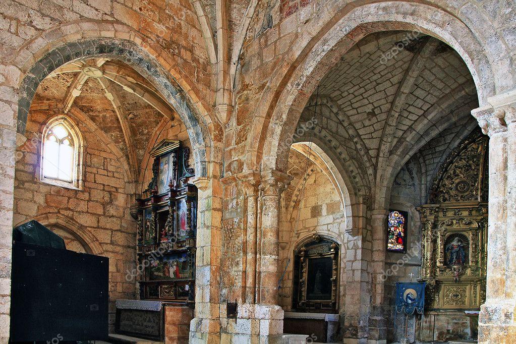 Interior Arches Of The Collegiate Church Of San Cosme In Covarub U2014 Stock  Photo #14576925