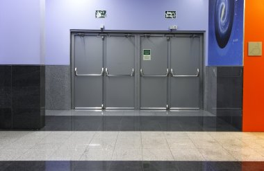 Modern curation emergency exit doors
