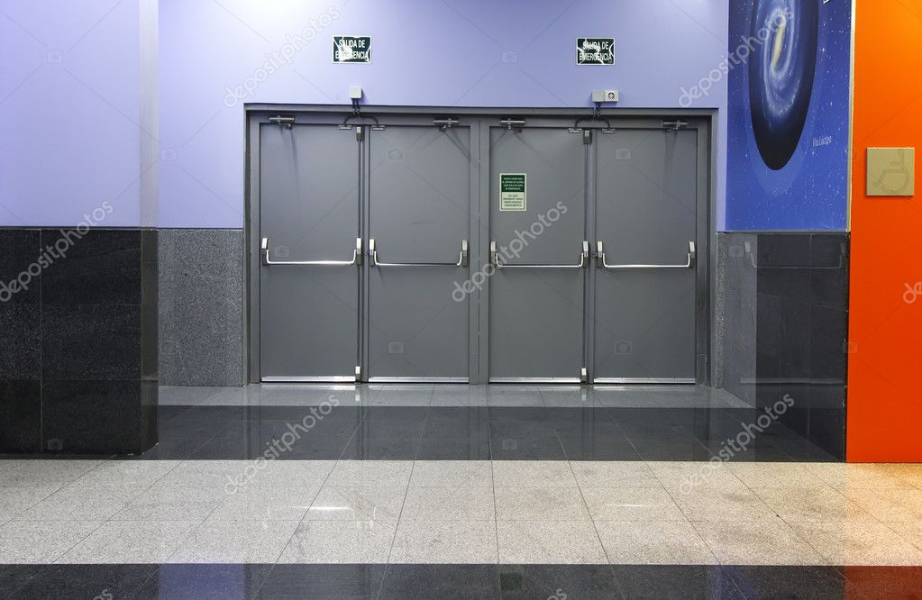 Modern curation emergency exit doors \u2014 Stock Photo & Modern curation emergency exit doors \u2014 Stock Photo © James633 #18627567