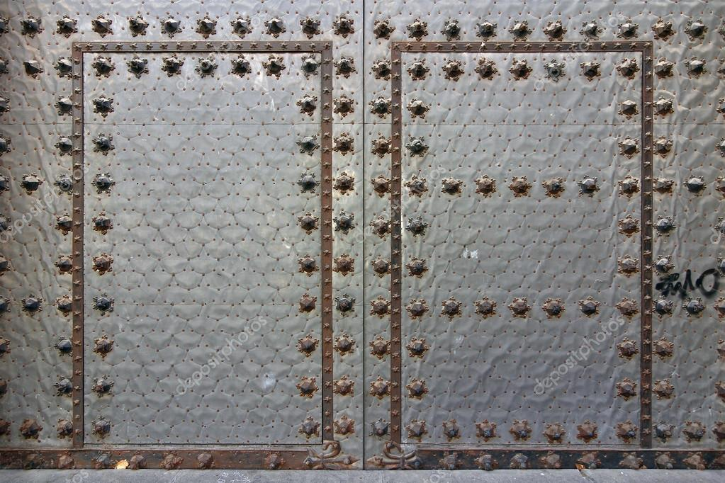 Old Metal Door With Rusted Rivets Stock Photo 169 James633