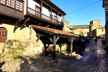 Typical houses in the World Heritage town of Santillana del Mar,