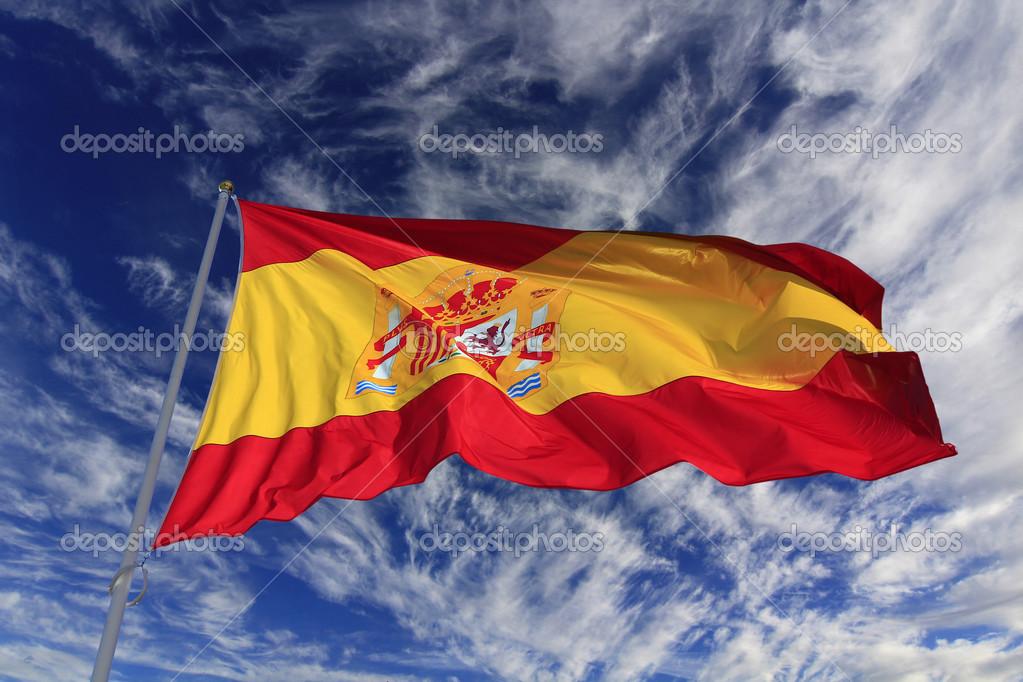 Espana bandera ondeando bandera espa ola ondeando al - Baneras con cambiador para bebes ...