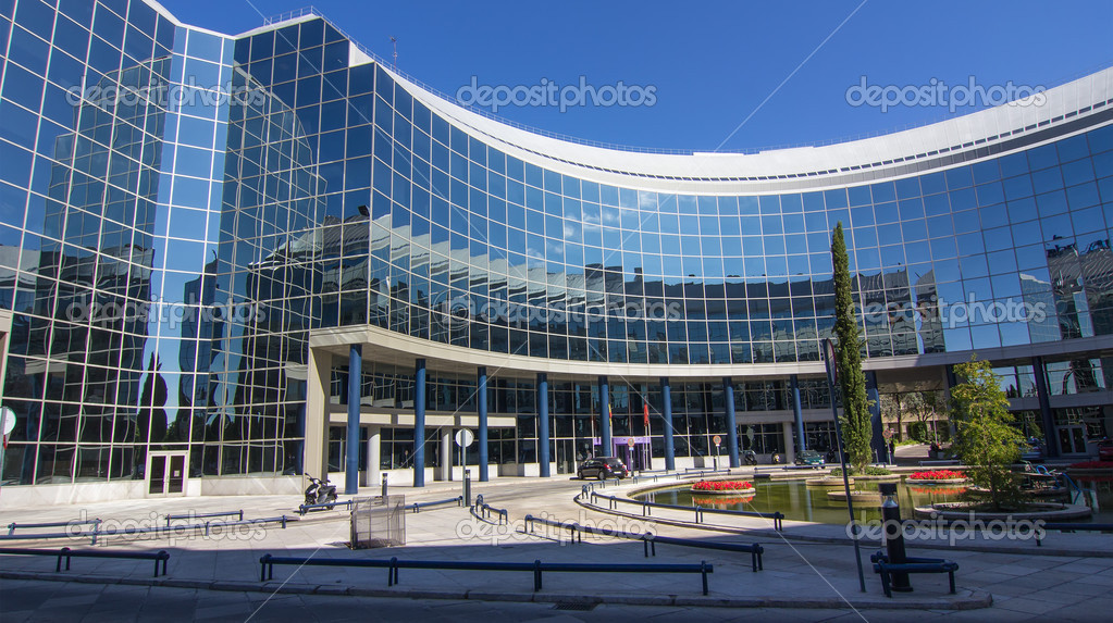 Madrid espa a 15 de oct moderno edificio con for La arquitectura en espana