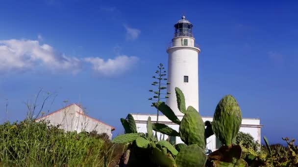 Formentera la mola maják v modré Středozemní moře
