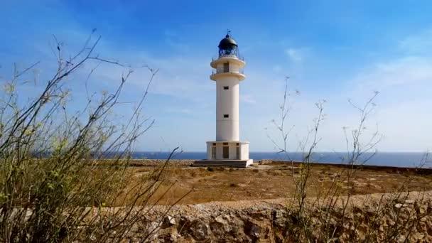 Barbaria formentera mys ostrova lighthousein Středomoří