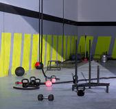 Fotografie CrossFit Kettlebells Seile und hammer Gym Wand Bälle