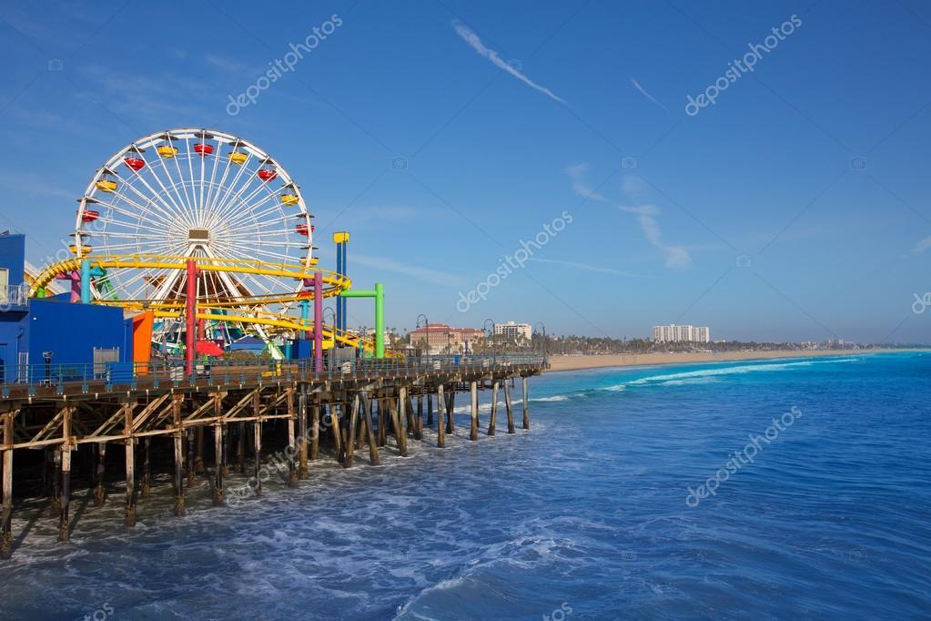 Santa Moica pier Ferris Wheel in California