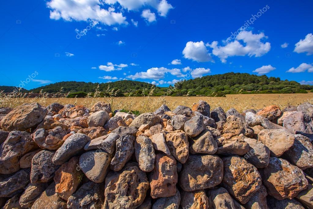 menorca Es Mitjorn Mediterranean masonry landscape