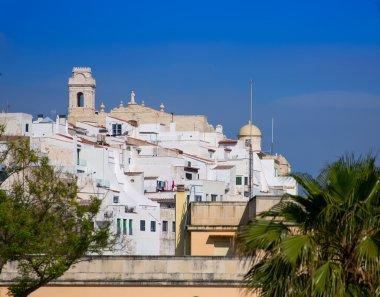 Mao Mahon downtown white city in Menorca at Balearics