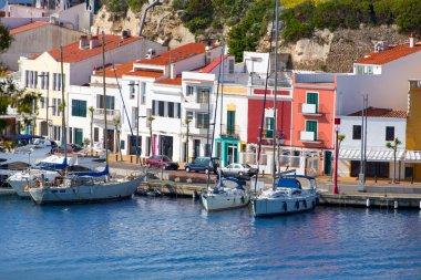 Mao Port of Mahon in Menorca at Balearic islands