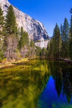 Yosemite Merced River and el Capitan in California