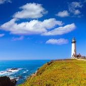 Fotografie Kalifornien Pigeon point-Leuchtturm in Cabrillo hwy coastal hwy 1