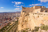 Fotografie Alicante Skyline Luftbild aus Santa Barbara Burg Spanien