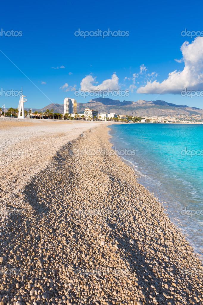 Fra mega Altea Playa del Albir of white stones in Alicante Spain — Stock SJ-04