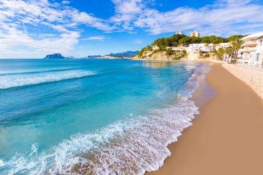 Moraira playa El Portet beach turquoise water in Alicante