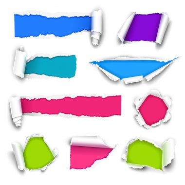 Collection of color paper. Vector illustration clip art vector