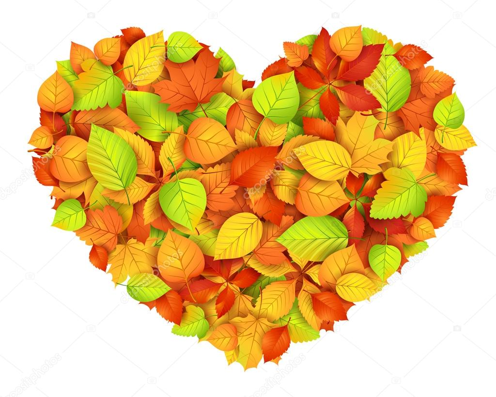 Big autumn heart