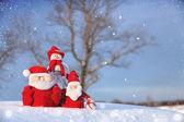Hóember karácsonyi és télapó