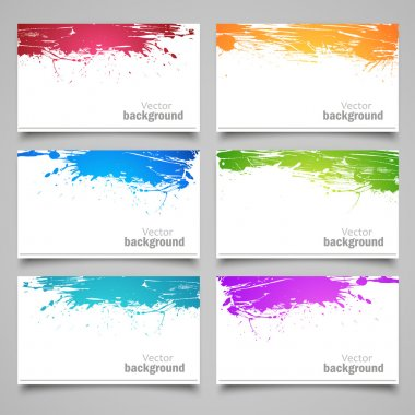 Set of colored cards