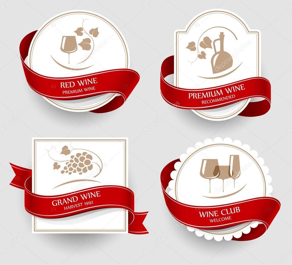 Labels set for wine