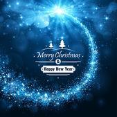 Fotografie Vánoční modré pozadí