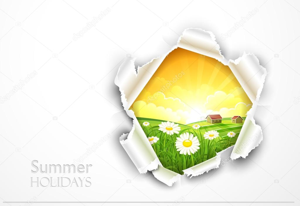Natural background with flowers