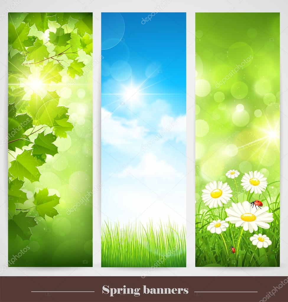 Spring banners