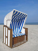 sedia di spiaggia sul Mar Baltico