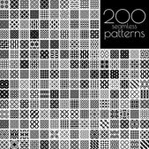Fotografie Black and white ornament patterns