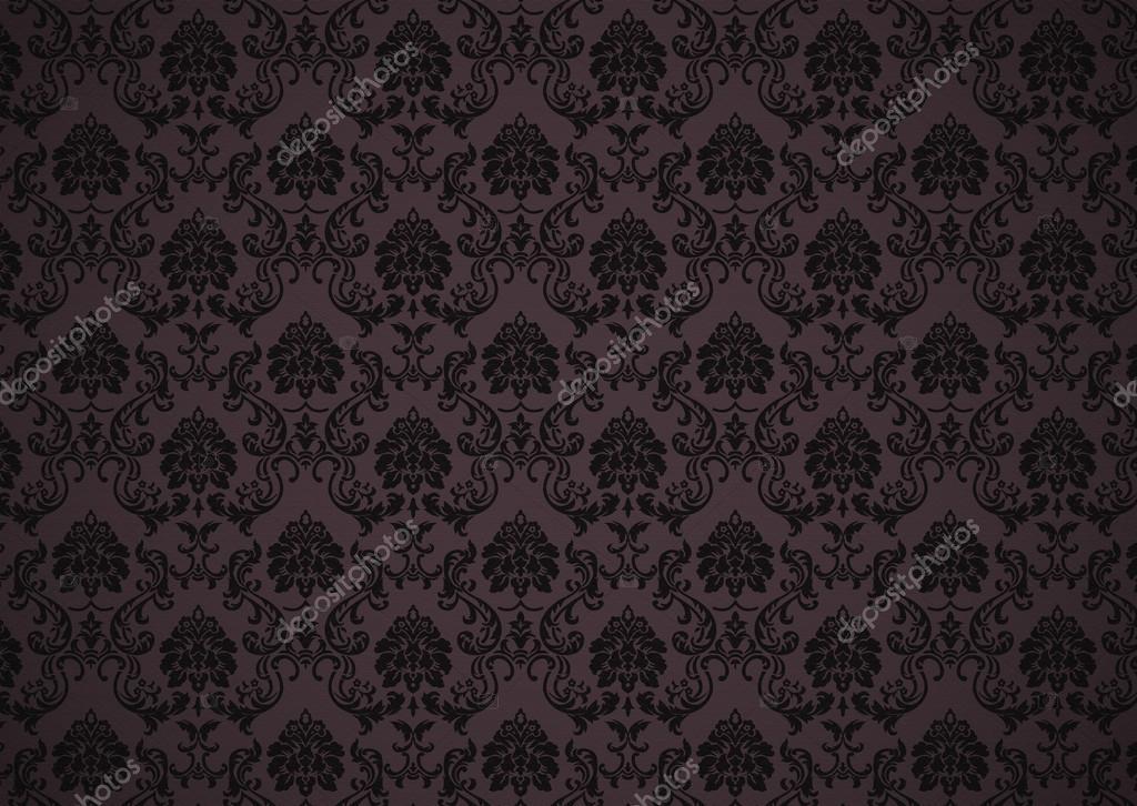 Dunkle Barocke Tapete Mit Textur Stockfoto Thomaspajot 14775769