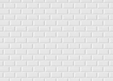 White tiled Parisian metro