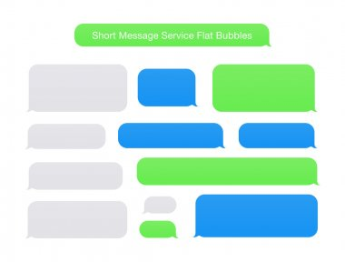 Short Message Service Flat Bubbles