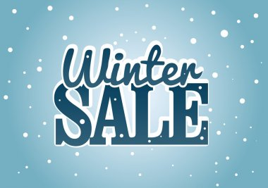 Vector illustration about the Winter sale business clip art vector