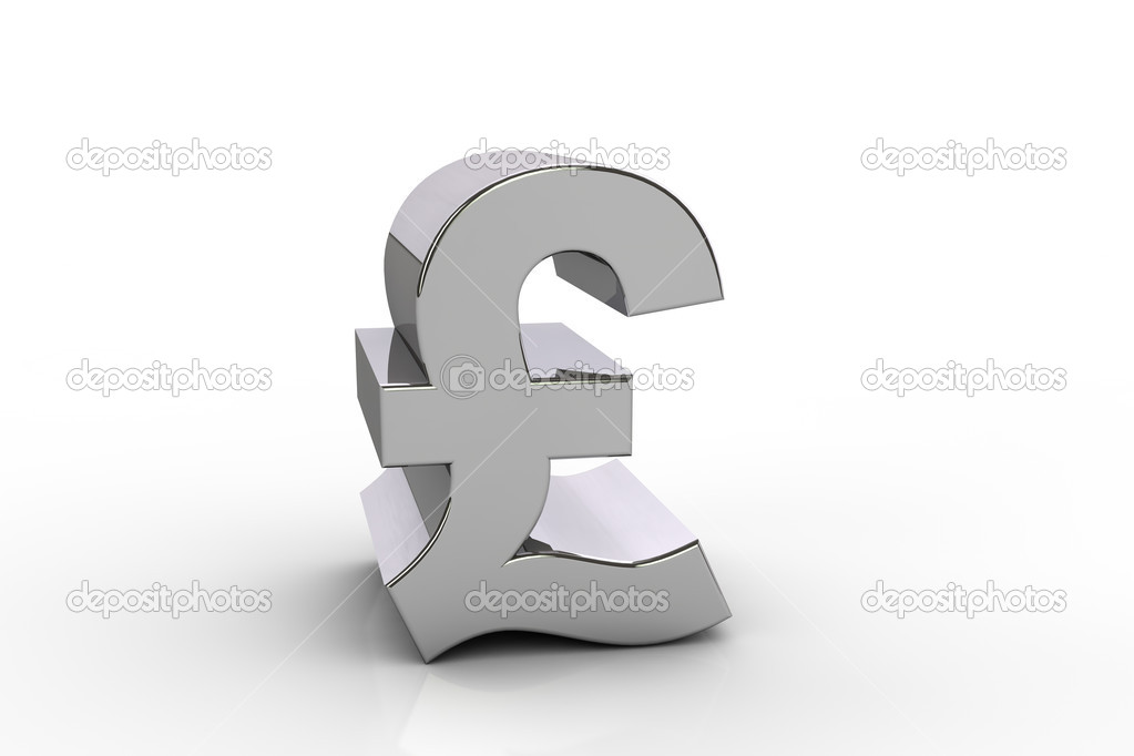 3d Pound Sterling Currency Symbol Stock Photo Sam741002 27221399