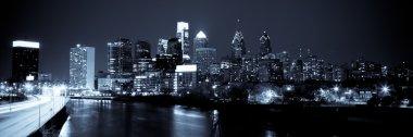 Panoramic Skyline of Philadelphia by night by night