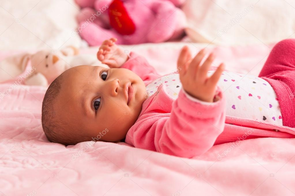 Cute Black Newborns Adorable Little African American Baby Girl Black People Stock Photo C Sam741002 43073859