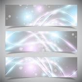 Světlé abstraktní bannery kolekce