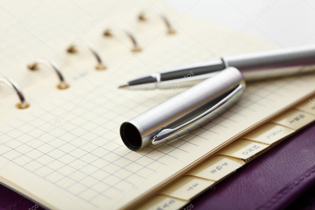 Persoonlijke organizer met pen u2014 stockfoto © gzorgz #27046981