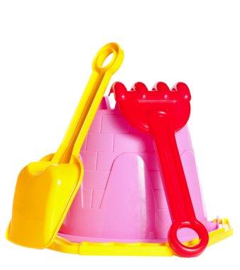Baby bucket, spade and rake