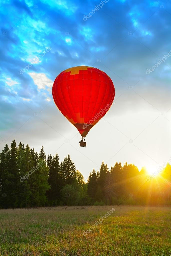 balloon meadow sun