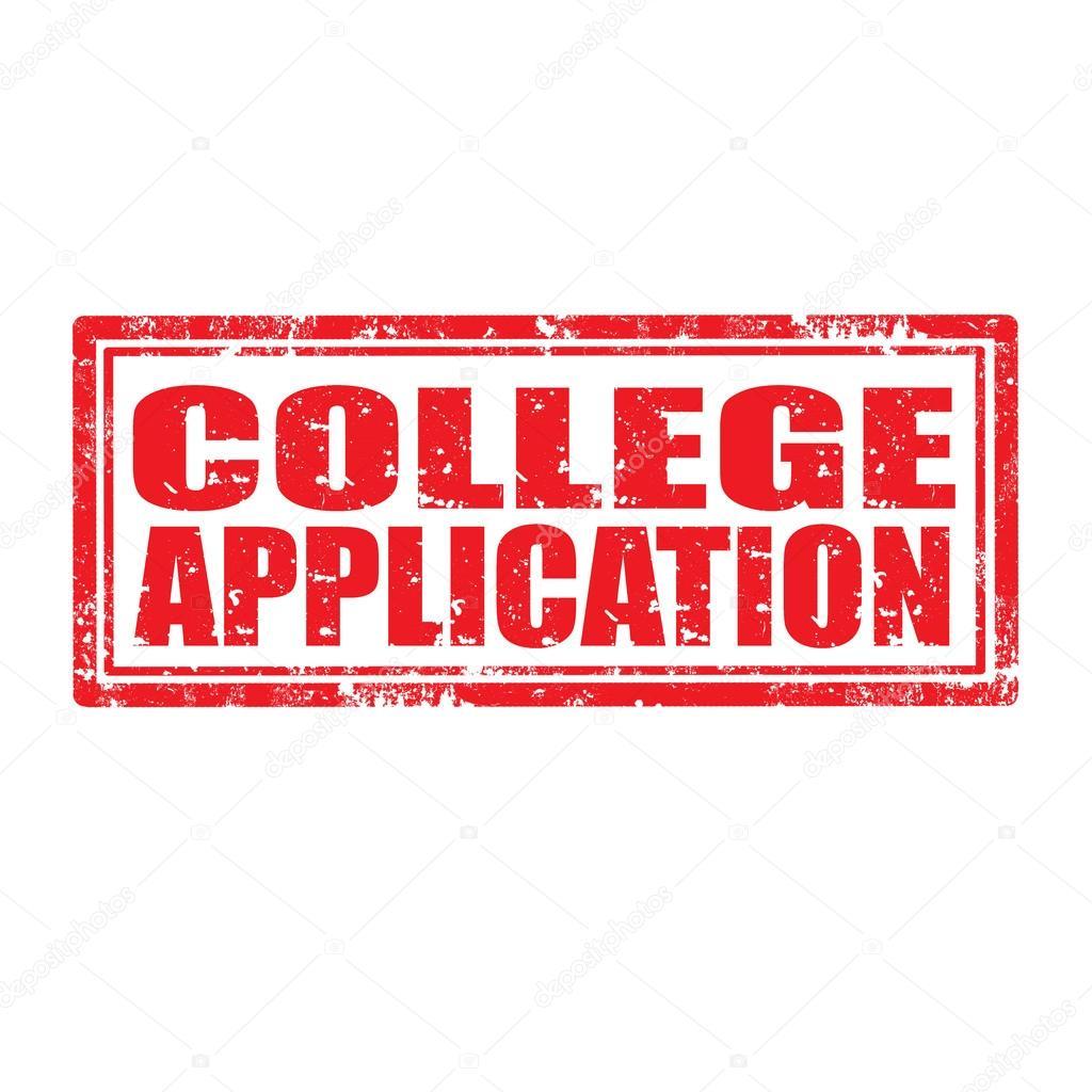 College Anwendung-Stempel — Stockvektor © carmen_dorin #33178081