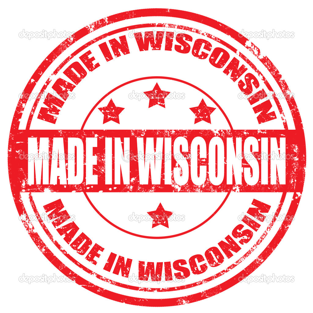 Made In Wisconsin Stamp Stock Vector