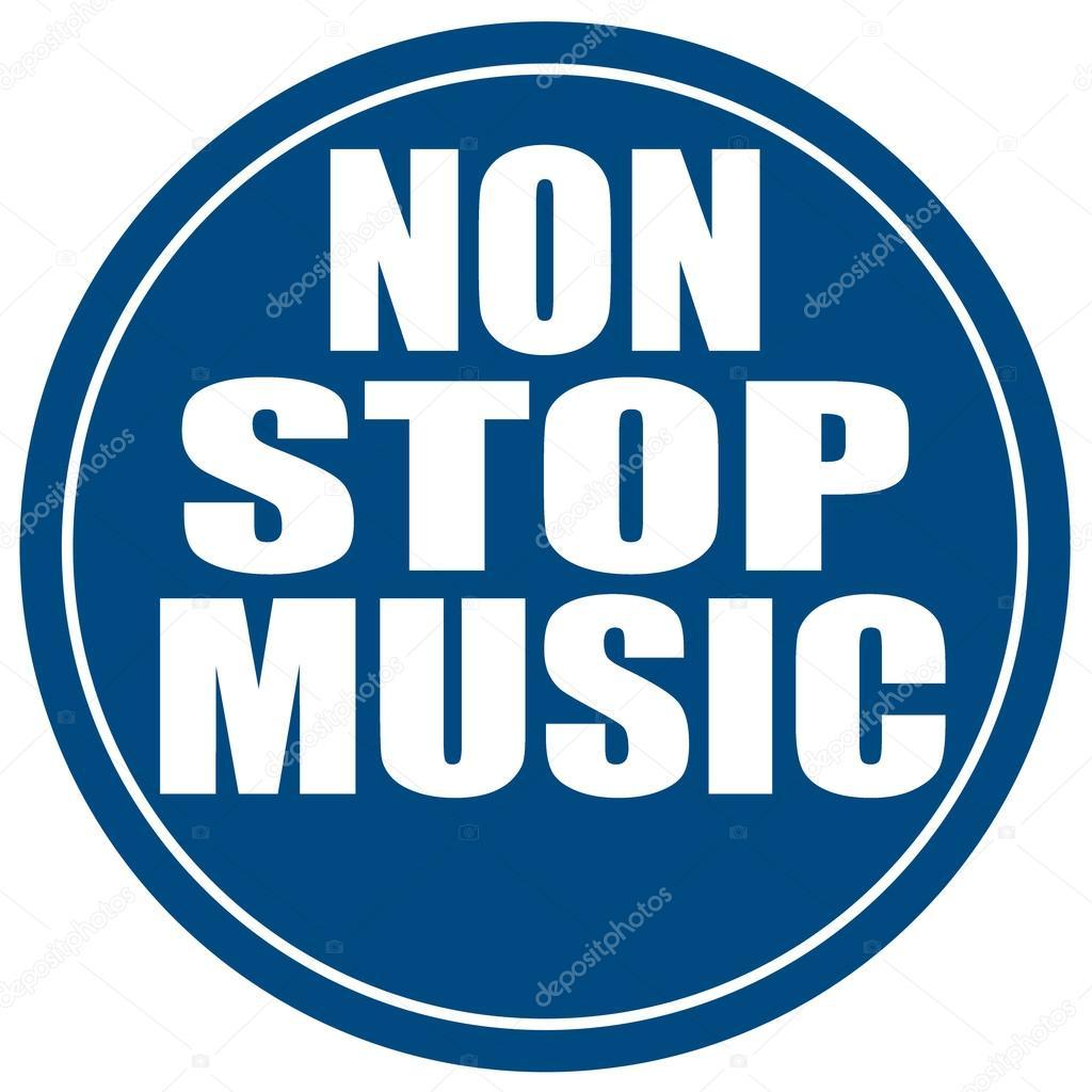 Non-stop muziek-label — Stockvector © carmen_dorin #34614201