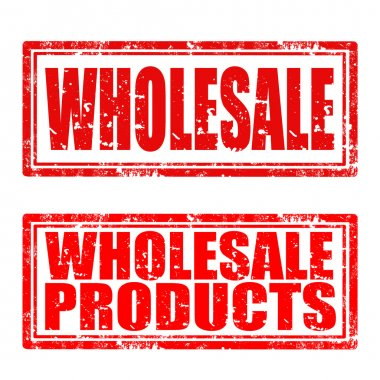 Set of grunge rubber stamp with text Wholesale and Wholesale Products,vector illustration stock vector
