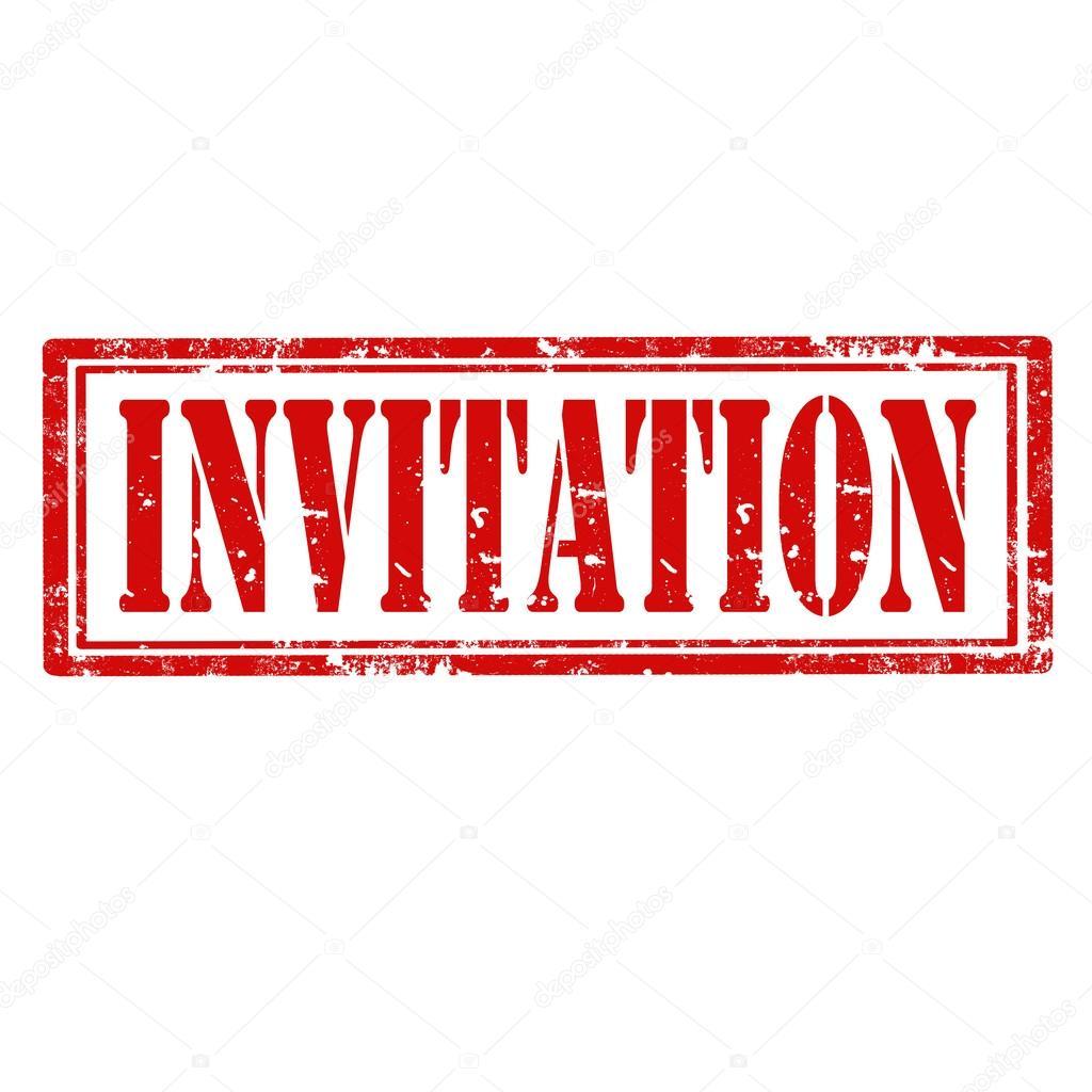 Invitation Stamp Stock Vector 169 Carmen Dorin 40950355