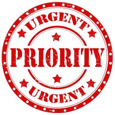 urgent priority stamp