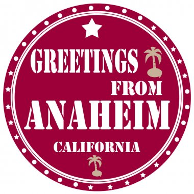 Greetings From Anaheim-label