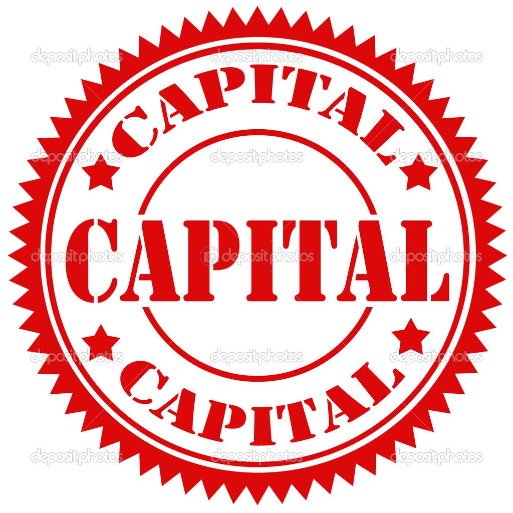 Capital Stamp Stock Illustration
